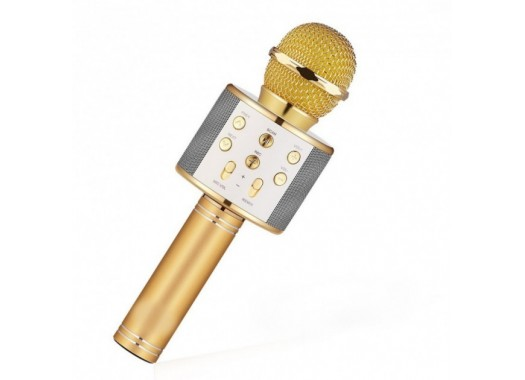 Караоке-микрофон WSTER WS858 (Gold)