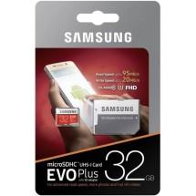 Карта памяти microSD Samsung Evo Plus UHS-1 (class 10) - 32GB + адаптер