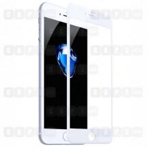 Защитное стекло для iPhone 8 Plus (5D) (белое)