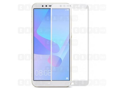 Защитное стекло для Huawei Y6 Prime (3D) (белое)