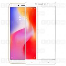 Защитное стекло для Xiaomi Redmi 6A (3D) (белое)