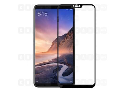 Защитное стекло для Xiaomi Mi Max 3 (3D) (черное)
