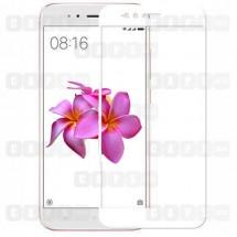 Защитное стекло для Xiaomi Mi A1 (3D) (белое)