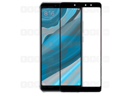 Защитное стекло для Xiaomi Redmi S2 (3D) (черное)