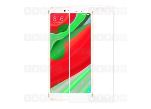 Защитное стекло для Xiaomi Redmi S2 (3D) (белое)